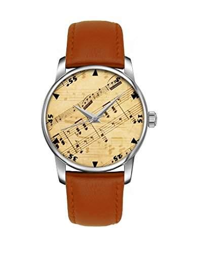 Armbanduhr, Silber Braun echte Leder Maedchenuhr Damenuhr bei OOFIT koennen Sie das Besten Geschenk