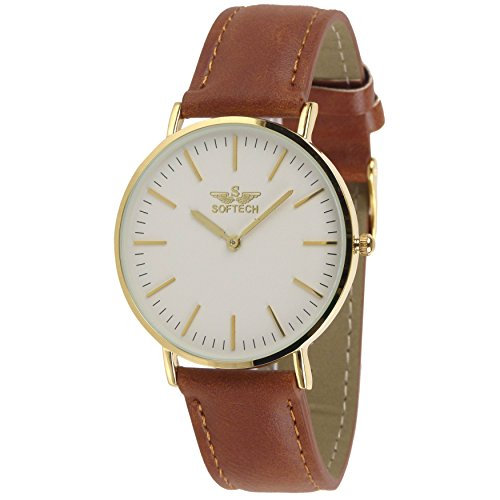 Slim Classic by Softech Kunstleder auf Trend Designer Gold Fall Tan Gitarrengurt