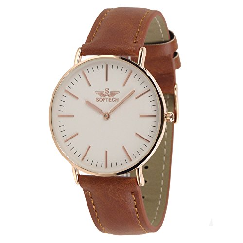 Slim Classic by Softech Kunstleder auf Trend Designer Rose Gold Fall Tan Gitarrengurt