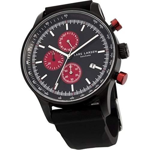 Lars Larsen Herren-Armbanduhr LW33 Analog Quarz Silikon 133CBBS