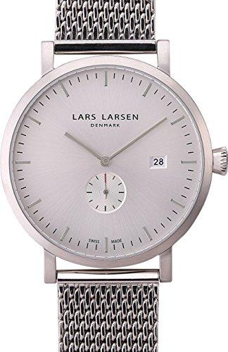 Lars Larsen Herren Armbanduhr Sebastian Analog Quarz Edelstahl 131SWSM