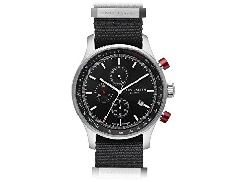 Lars Larsen Herrenuhr Chronograph Storm Steel Collection 133SBBN