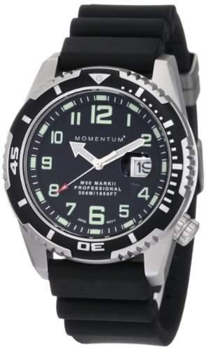 Momentum Herren-Armbanduhr XL M50 MARK II Analog Quarz Kautschuk 1M-DV52B1B