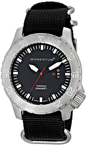 Momentum Herren-Armbanduhr XL TORPEDO Analog Quarz Nylon 1M-DV74B7B
