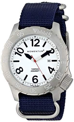 Momentum Herren-Armbanduhr XL TORPEDO Analog Quarz Nylon 1M-DV74L7U