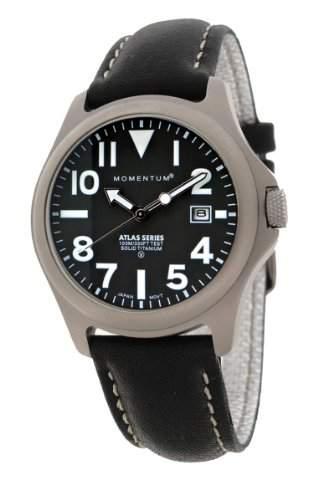 Momentum Herren-Armbanduhr XL ATLAS Analog Quarz Leder 1M-SP00B2B