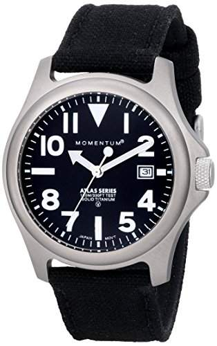 Momentum Herren-Armbanduhr XL ATLAS Analog Quarz Textil 1M-SP00B6B