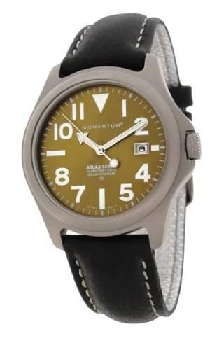 Momentum Herren-Armbanduhr XL ATLAS Analog Quarz Leder 1M-SP00G2B