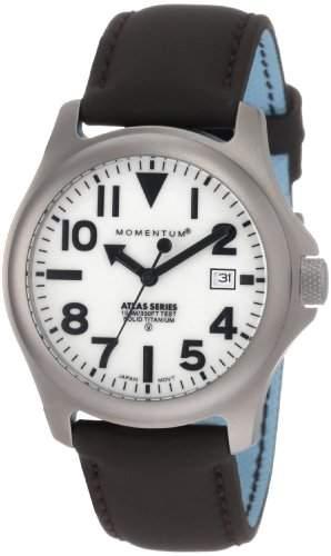 Momentum Herren-Armbanduhr XL ATLAS Analog Quarz Leder 1M-SP00W12C