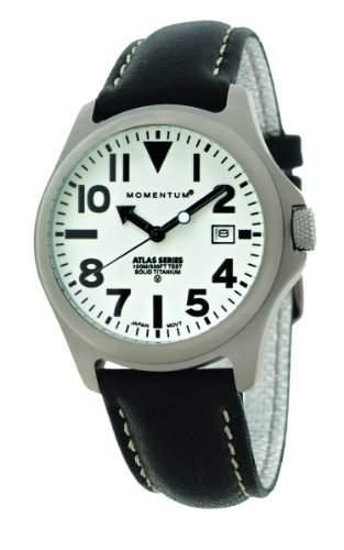 Momentum Herren-Armbanduhr XL ATLAS Analog Quarz Leder 1M-SP00W2B