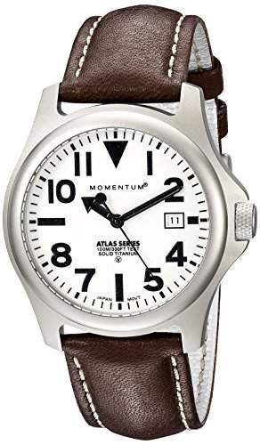 Momentum Herren-Armbanduhr XL ATLAS Analog Quarz Leder 1M-SP00W2C