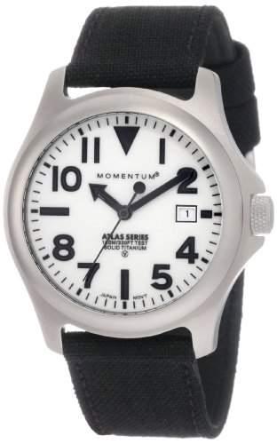 Momentum Herren-Armbanduhr XL ATLAS Analog Quarz Textil 1M-SP00W6B