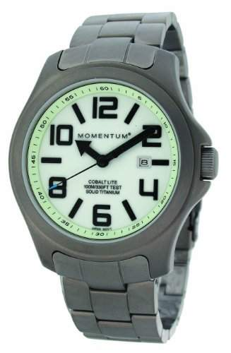 Momentum Herren-Armbanduhr XL COBALT LITE Analog Quarz Titan 1M-SP08L0