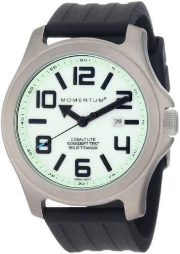 Momentum Herren-Armbanduhr XL COBALT LITE Analog Quarz Kautschuk 1M-SP08L1B