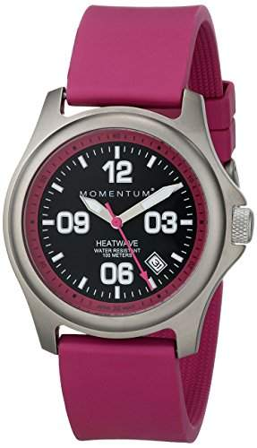 Momentum Damen-Armbanduhr HEATWAVE Analog Quarz Kautschuk 1M-SP17F1F
