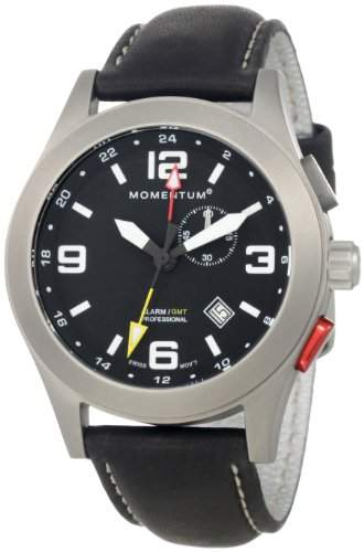 Momentum Herren-Armbanduhr XL VORTECH GMT Analog Quarz Kautschuk 1M-SP58B2B