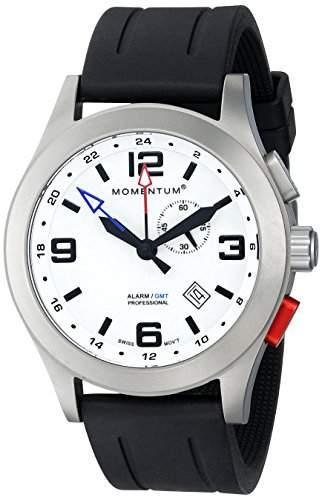 Momentum Herren-Armbanduhr XL VORTECH GMT Analog Quarz Kautschuk 1M-SP58L1B