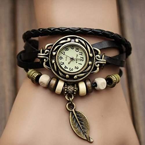 SSITG Damenuhr - Leder - Armbanduhr - Vintage - Retro - Damenarmbanduhr - Spangenuhr 1