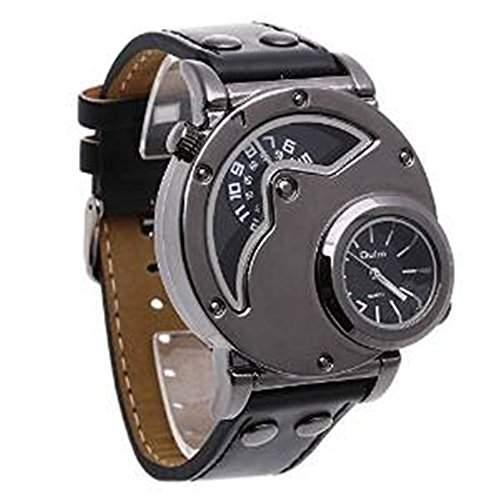 SSITG Armbanduhr OULM Russisch Armee Milit?r Dual Uhrwerk Leder Armband Herren Armbanduhr Uhr Watch Geschenk