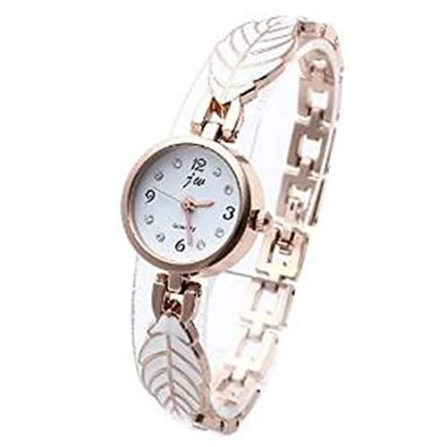 SSITG Uhr Damen Armband Uhr Damenuhr Armbanduhr Quarzuhr Legierung mit Strass Blatt Gechenk Gift Watch