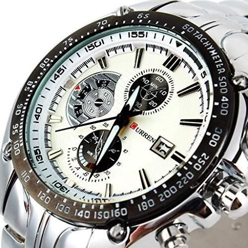 SSITG CURREN Herren Uhr Armbanduhr Quarzuhren Watch Sportuhr Edelstahl Armband