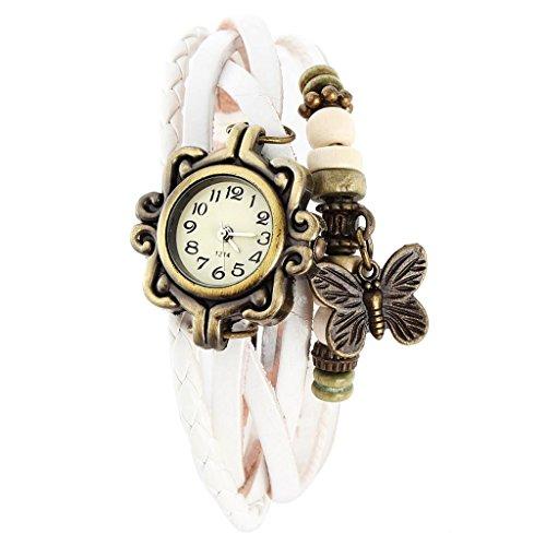 SSITG Damen Uhr Armbanduhr Damenuhren Quarzuhren Wickeluhr Lederarmbanduhr Armband PU watch Geschenk Gift SS 7