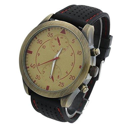 SSITG Uhr Herren Silikon Armbanduhr Herrenuhr Quarzuhren Quarzuhr Schwarz Milit r Geschenk Gift Watch