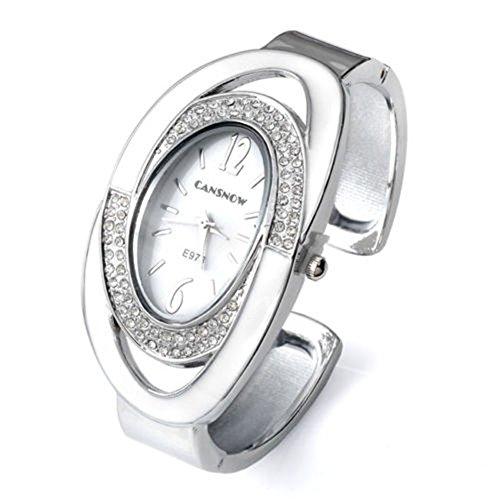 SSITG Oval Nebelfleck Quarzuhr Armband SPANGENUHR GESCHENK 002