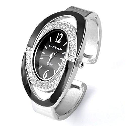 SSITG Oval Nebelfleck Quarzuhr Armband SPANGENUHR GESCHENK 001