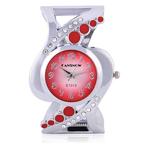 SSITG Armbanduhr Spangenuhr Strass Quarzuhr Analog Armreif Uhr gold silber Geschenk Gift Armbanduhr watch S04775