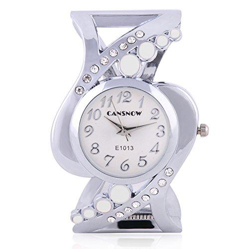 SSITG Armbanduhr Spangenuhr Strass Quarzuhr Analog Armreif Uhr gold silber Geschenk Gift Armbanduhr watch S04778
