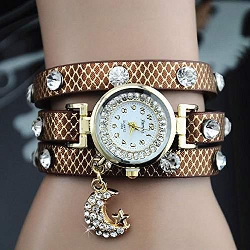 SSITG QUARTZ DAMEN WICKELUHR GOLD ARMBANDUHR STRASS Uhr Geschenk Gift Watch