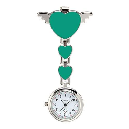 SSITG Schwesternuhr Herz Krankenschwester Uhr Pulsuhr Pflegeuhr Taschenuhr S03125