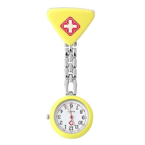 SSITG Schwesternuhr Krankenschwester Quarz Uhr Pflegeuhr Pulsuhr Metall Bunte