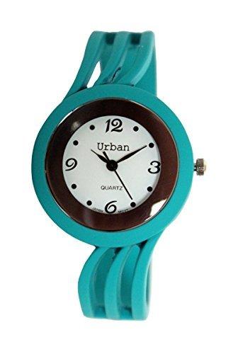 Staedtischen Tuerkis Damen Armband Armreif Matt Finish Watch einzigartigen Look schnellen Lieferung