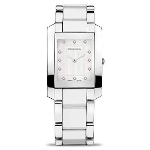 Rodania Damen Weiß Ã‹delstahl Armband & Gehäuse Saphirglas Uhr 24523-48