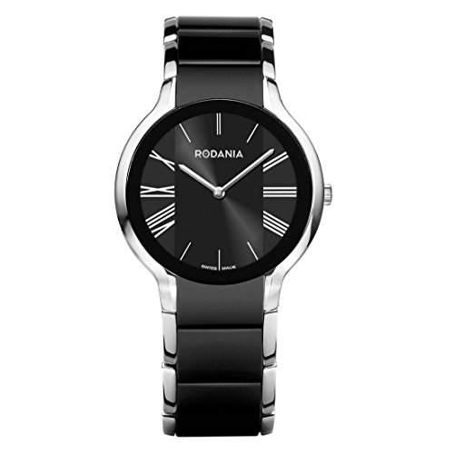 Rodania Swiss Made Herren 35mm Edelstahl Gehäuse Saphirglas Uhr 24923-46