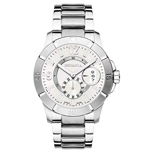 Rodania Herren 42mm Silber Ã‹delstahl Armband & Gehäuse Mineral Glas Uhr 25032-48