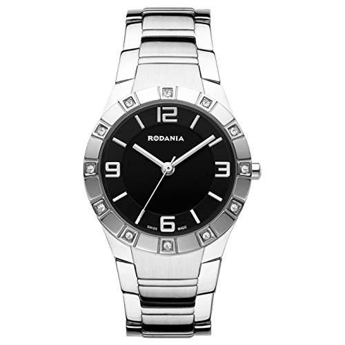 Rodania Damen 29mm Silber Ëdelstahl Armband & Gehäuse Mineral Glas Uhr 25034-46