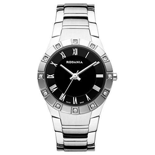 Rodania Damen 29mm Silber Edelstahl Armband & Gehaeuse Mineral Glas Uhr 25034-47