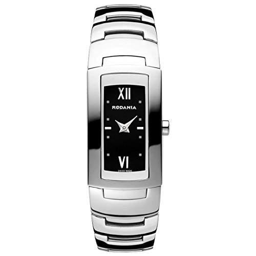 Rodania Damen Silber Ã‹delstahl Armband & Gehäuse Mineral Glas Uhr 25036-46