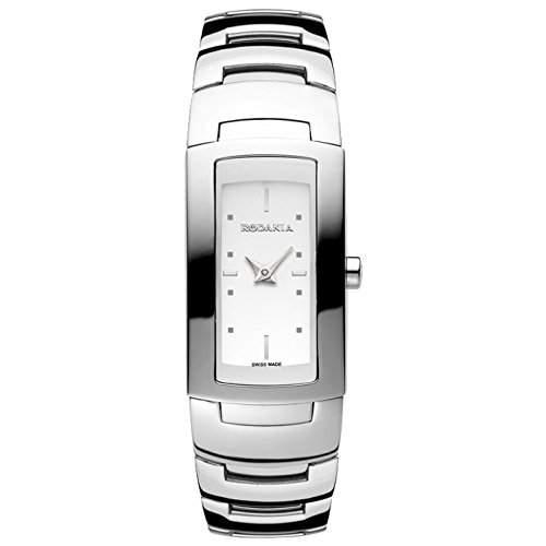 Rodania Damen Silber Ã‹delstahl Armband & Gehäuse Mineral Glas Uhr 25036-48