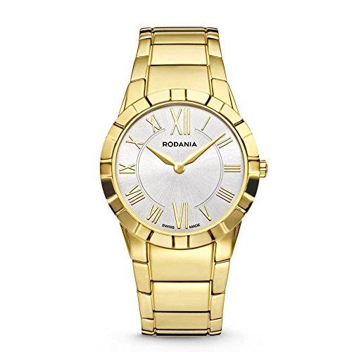Rodania Salina Damen 31mm Gold Armband Edelstahl Gehaeuse Saphirglas Uhr 25079 62