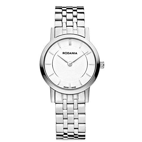 Rodania Elios Damen 28mm Silber delstahl Armband Gehaeuse Uhr 25046 40
