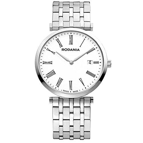 Rodania Elios Damen 38mm Silber delstahl Armband Gehaeuse Datum Uhr 25056 42