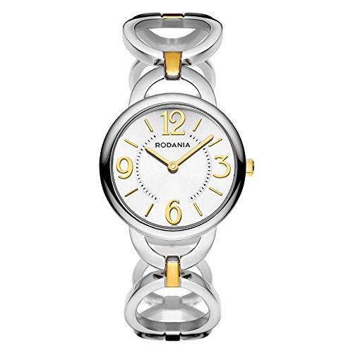Rodania Eileen Damen 30mm Silber delstahl Armband Gehaeuse Uhr 26047 80