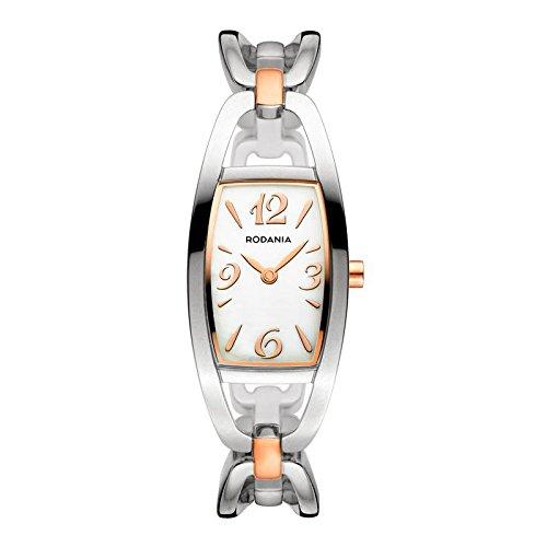 Rodania Alexia Damen 20mm Silber delstahl Armband Gehaeuse Uhr 26049 43
