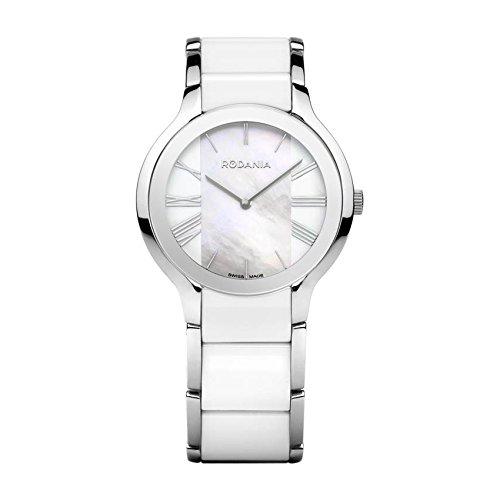Rodania Damen 35mm Weiss delstahl Armband Gehaeuse Saphirglas Uhr 24923 42