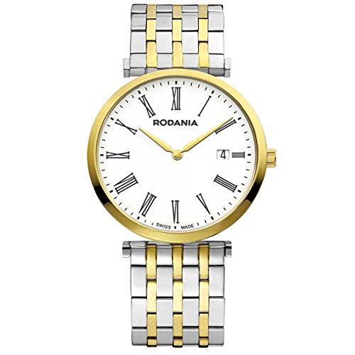 Rodania Elios Swiss Made Damen 38mm Saphirglas Datum Uhr 25056 82