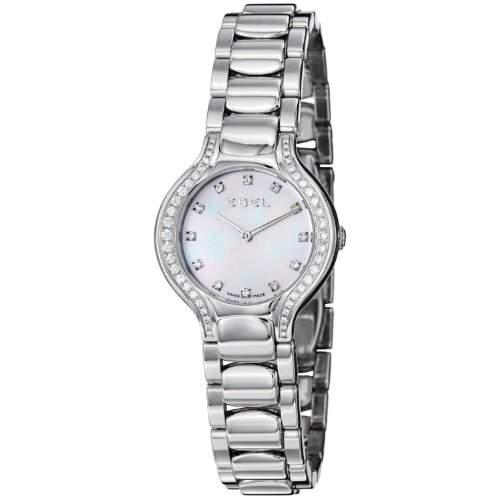 Ebel Beluga Mini Stainless Steel & Diamond Womens Watch MOP Dial 9003N18991050